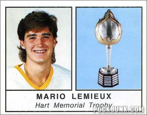 1988-89 Panini Stickers #400 - Mario Lemieux / Hart Trophy