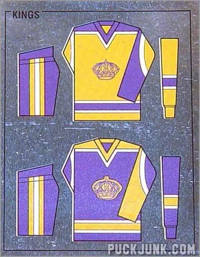 1988-89 Panini Stickers #87 - Los Ageles Kings Uniforms (foil)