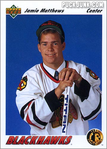 Jamie Matthews Upper Deck hockey card