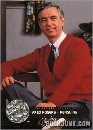 Mister Rogers' Hockey Card