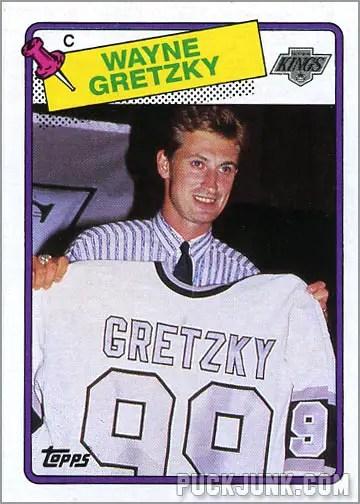 Wayne Gretzky 1988-89 Topps Hockey Card