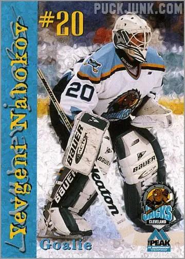 1999-00 Cleveland Lumberjacks - Evgeni Nabokov