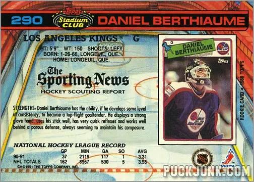 Daniel Berthiaume Hockey Card