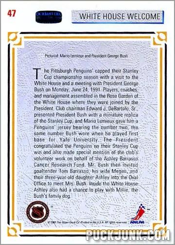 George Bush Hockey Card