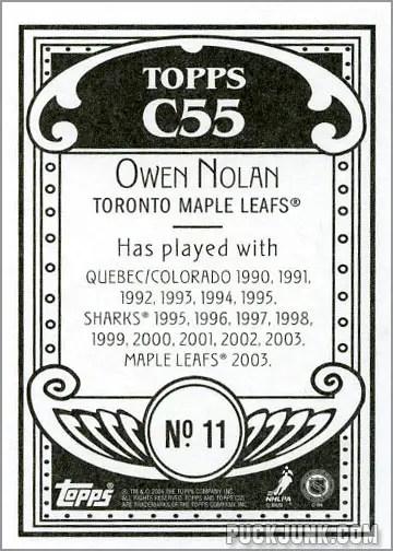 2003-04 Topps C55 #11 - Owen Nolan (back)