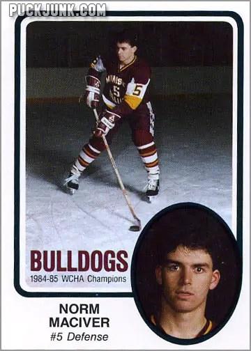 1985-86 UMD Bulldogs #5 - Norm Maciver