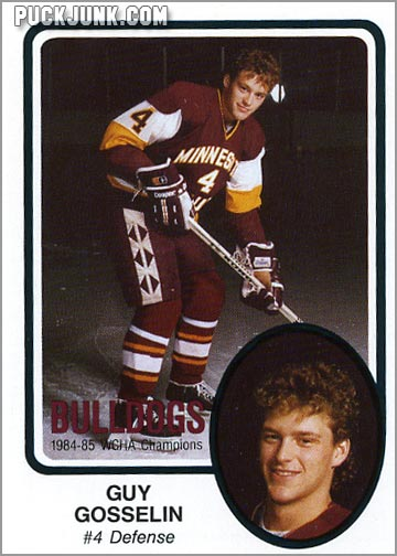 1985-86 UMD Bulldogs #10 - Guy Gosselin