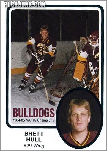 1985-86 UMD Bulldogs #28 - Brett Hull