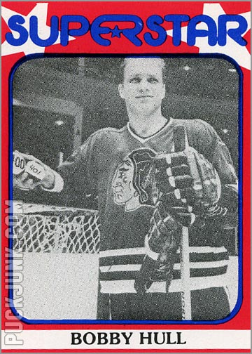 1982 Superstar card #75 - Bobby Hull