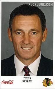 2007-08 Blackhawks Denis Savard (coach)