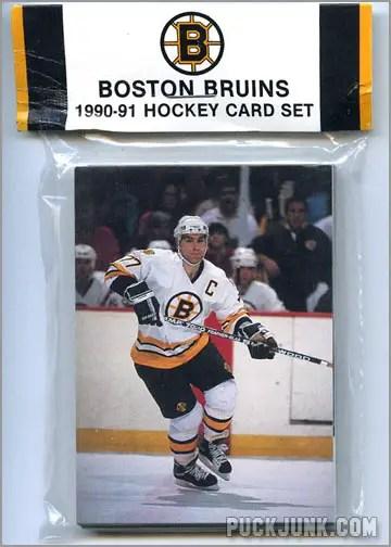 1990-91 Bruins Team Set