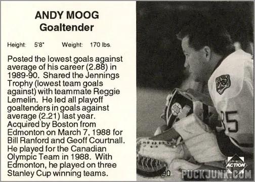 1990-91 Boston Bruins Andy Moog (back)