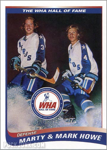 2010 WHA Hall of Fame #8 - Mark & Marty Howe