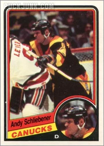 1984-85 OPC #329 - Andy Schliebener