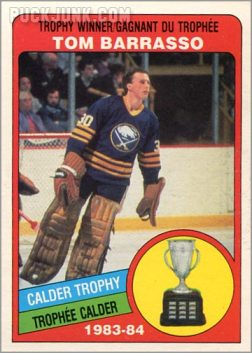 1984-85 OPC #375 - Tom Barrasso (Calder Trophy Winner)