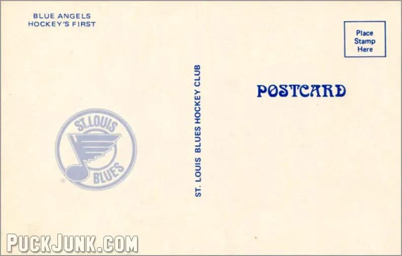 1978-79 St. Louis Blues Postcards - Blue Angels