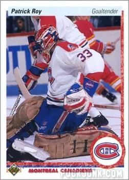 1990-91 Upper Deck Patrick Roy card