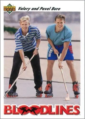 1991-92 Upper Deck card #647 - Bloodlines: Valery and Pavel Bure
