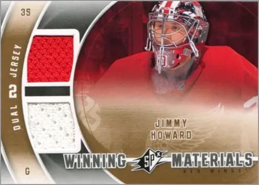 2011-12 SPx Winning Materials - Jimmy Howard