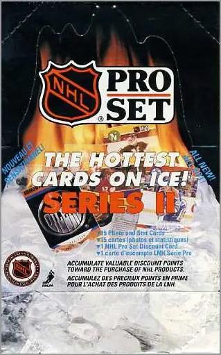 1990-91 Pro Set Hockey Series 2 wax box