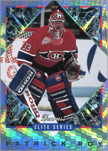 1993-94 Donruss Elite Series Inserts #9 - Patrick Roy