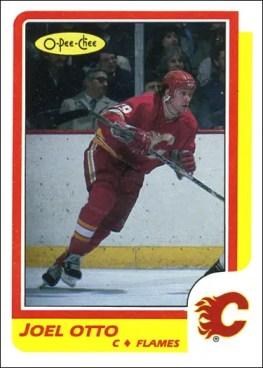 1986-87 O-Pee-Chee - Joel Otto custom card