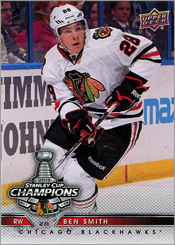 2013 Chicago Blackhawks Commemorative Box Set #23 - Ben Smith