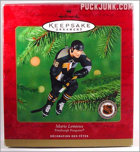Mario Lemieux Hallmark Hockey Greats Keepsake Ornament 2001 edition