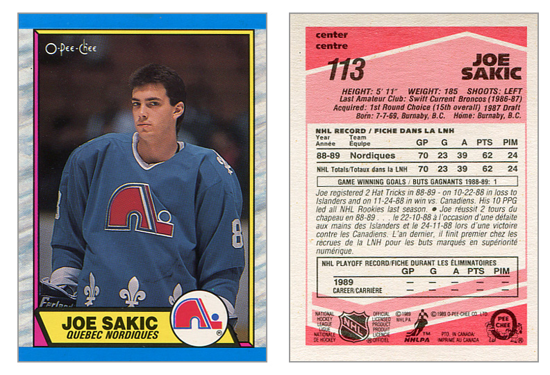 1989 90 O Pee Chee Tembec Test Prototype Hockey Cards Puck
