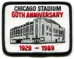 Chicago Stadium 60th Anniversary Patch