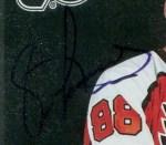 1996-97 Donruss Elite Eric Lindros & Mario Lemieux uncirculated autograph