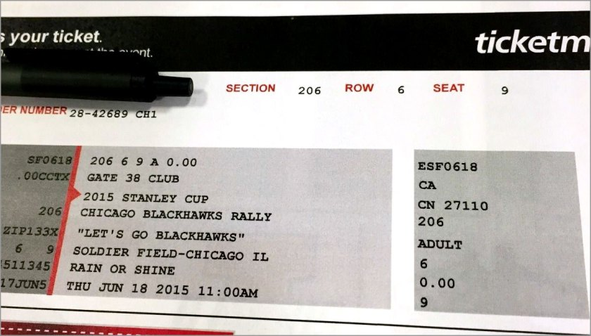 Free Hawks rally tickets hawked on eBay