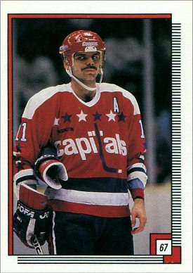 1988-89 O-Pee-Chee Stickers #67 - Mike Gartner (zoom)
