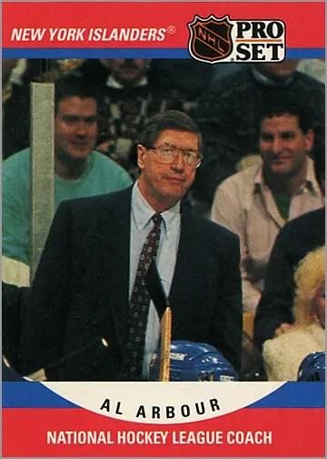 1990-91 Pro Set #671 - Al Arbour (coach)