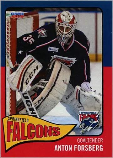 2014-15 Springfield Falcons #1 - Anton Forsberg