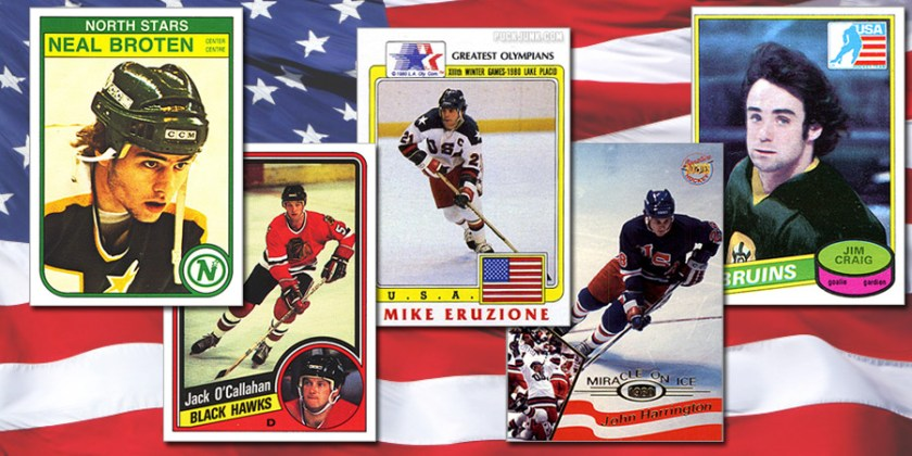 "Rookie Cards of the ""Miracle on Ice"" U.S. Olympic Team - Plus the Coaches"