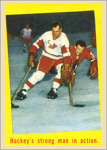 1959-60 Topps #48 - Hockey's Strong Man in Action