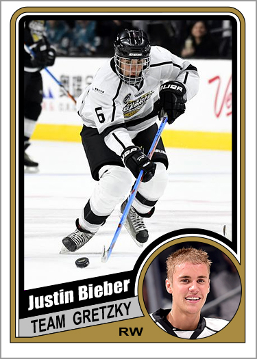 Justin Bieber Custom Hockey Cards