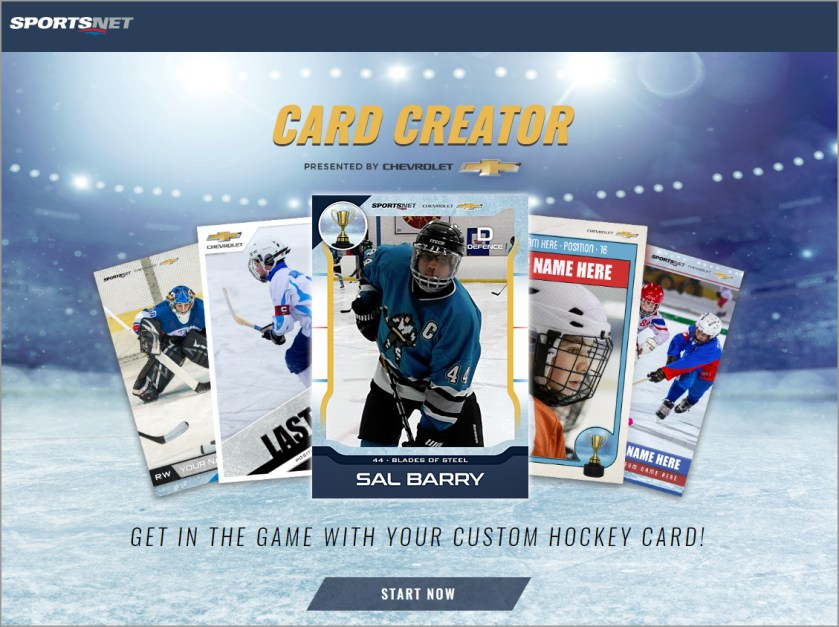 Make a Custom Hockey Card in Seconds