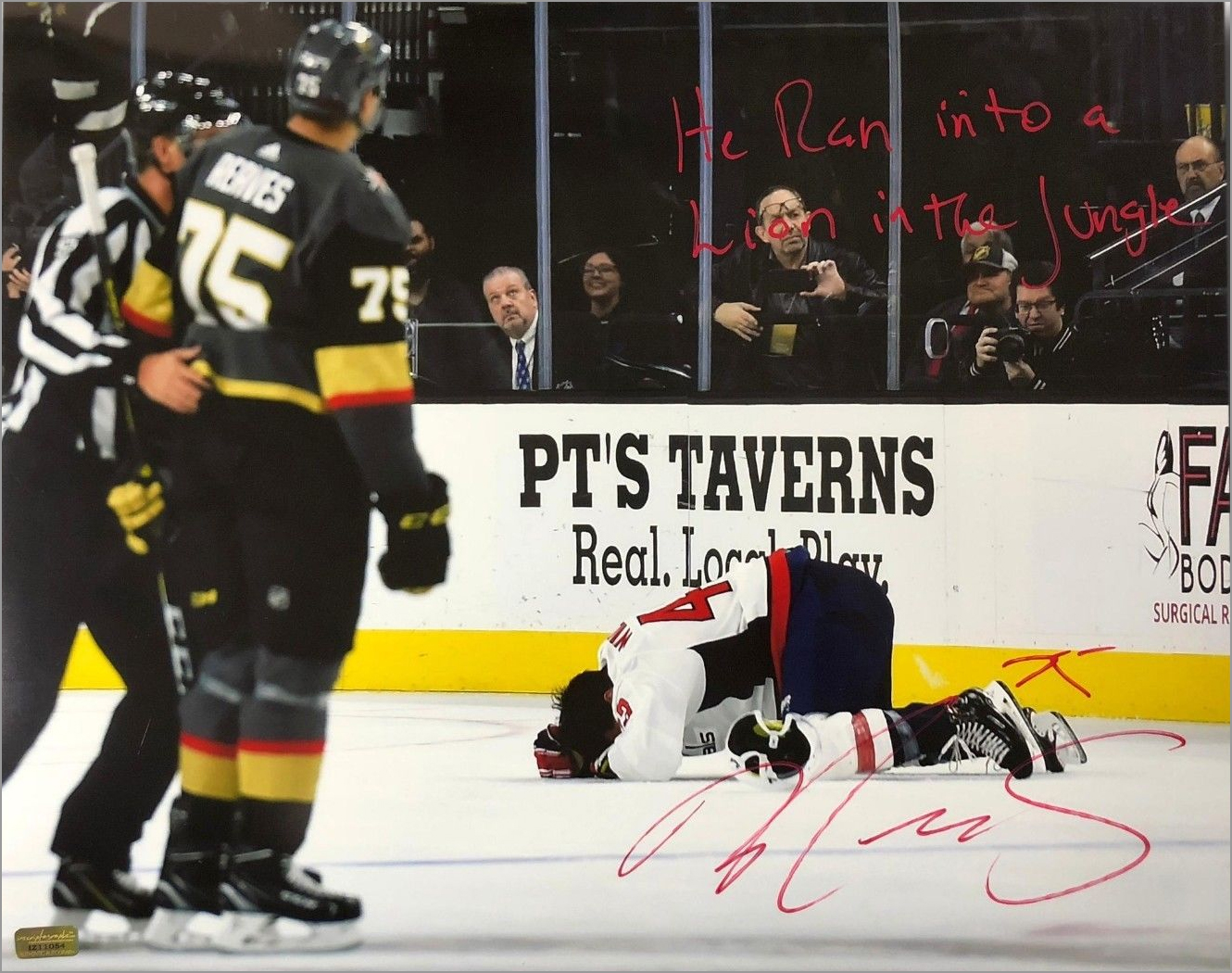 huge selection of 1d853 ee01e Was Ryan Reaves Autographing Tom Wilson Injury Photo Going ...