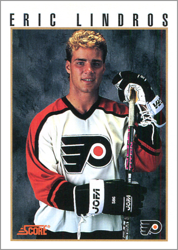 1992-93 Score Eric Lindros Press Conference Promo Card