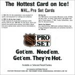 1990-91 Pro Set Series 1 Sell Sheet
