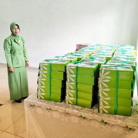 Nasi Box untuk acara Arisan Ibu2 Persit Pusdikhub