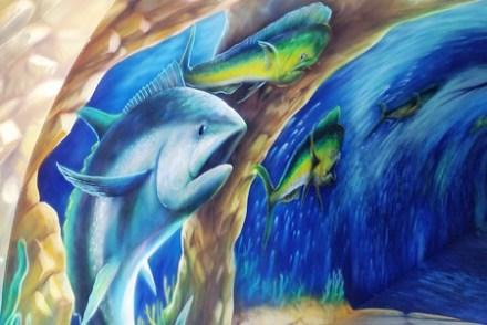【遊記-宜蘭】蘇澳南方澳漁港/螢光環景海洋彩繪《祝大漁 物產文創館》3D立體漁龍捲海底隧道