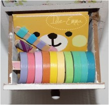 Middle - tape and sticky notes