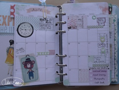Photo - Geo, Geometric Personal Filofox Planner Setup (4) - Monthly View