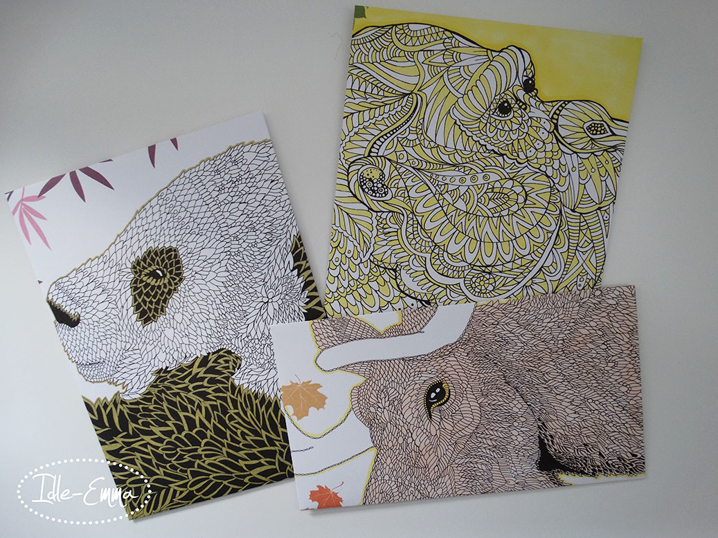 Yet More Colouring Book Pages Turned into Envelopes