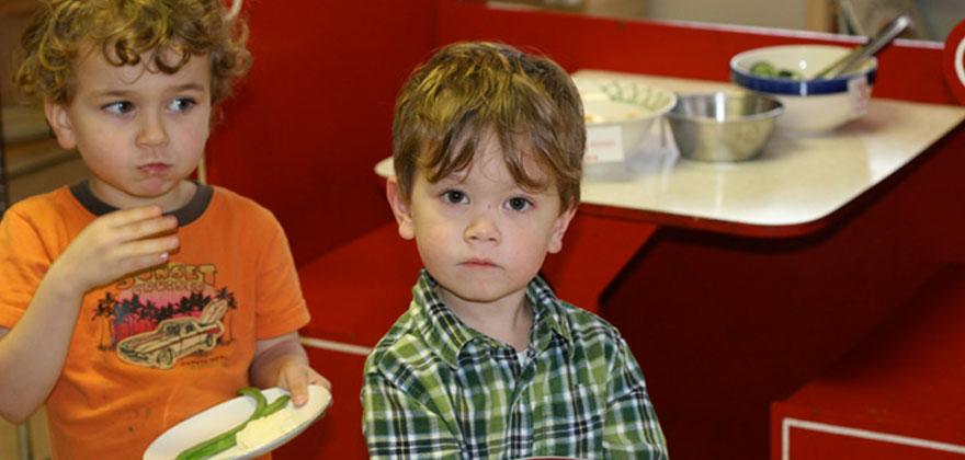 Kids at Portland Montessori school in Portland Oregon