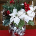 Diy christmas decorations poinsettia centerpiece
