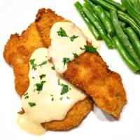 Chicken Schnitzel with Mustard Cream Sauce